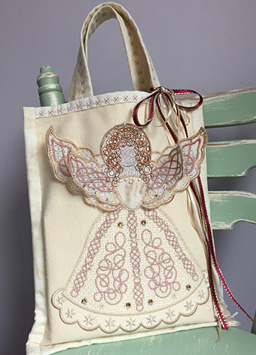 """a """"naughty""""embroidered fairy for your tree"""