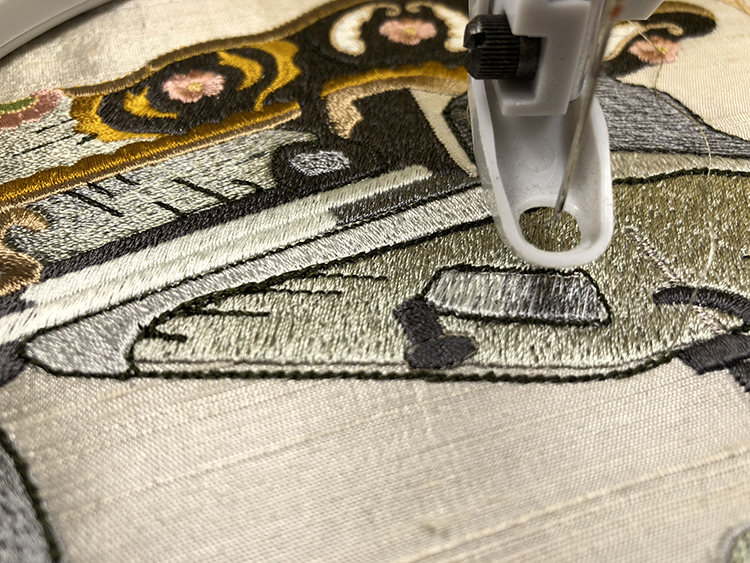 What to do with an imperfect embroidery stitch out